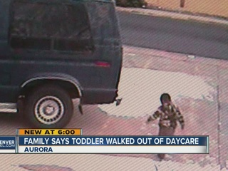 2-year-old caught on survellience walking out