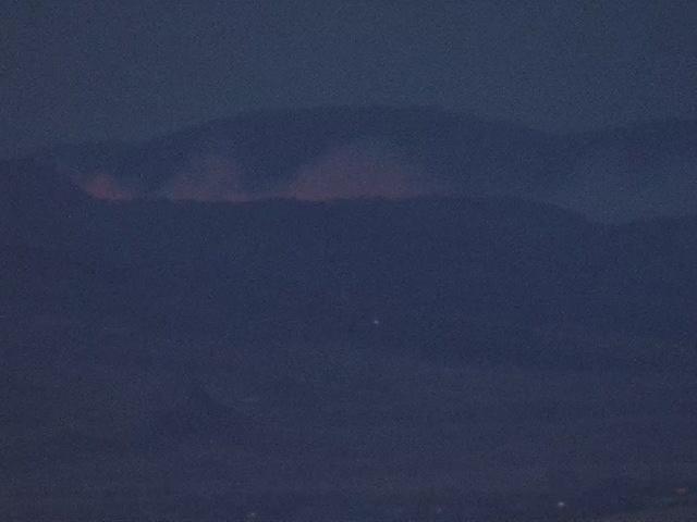 Wildfire in foothills west of Loveland near Bobcat Ridge