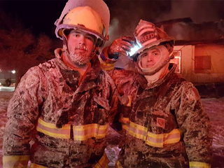 Rocky Ford Fire battles flames at -22 degrees