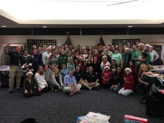 Santa Cops make Christmas possible for families