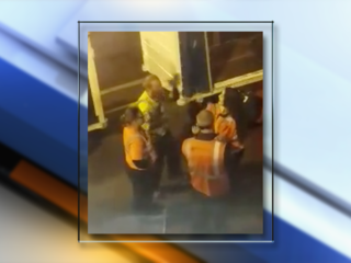 Frontier bag handlers argue in passenger video