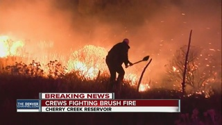 Brush fire burns at Cherry Creek State Park