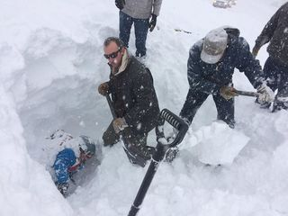 Backcountry skier rescued after avalanche