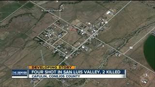 4 shot; 2 killed in rural, Southern Colo. town