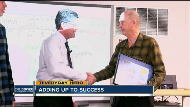 7Everyday Hero Win Pendleton helps DougCo students with math