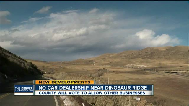 Jefferson County commissioners modify Dinosaur Ridge rezoning plan- vote…