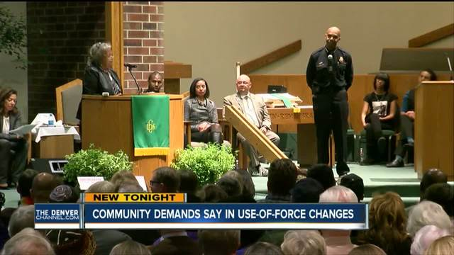 Denver community demands say in use-of-force changes
