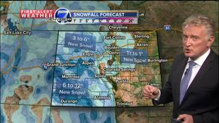 A little rain and snow for the plains