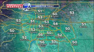 50s today, but snow in Denver tomorrow
