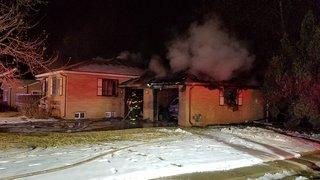 Fire destroys home's garage