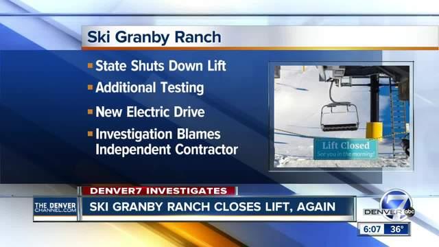 Ski Granby Ranch closes lift again