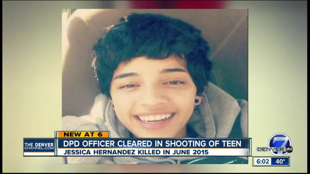 Denver officer cleared in deadly shooting of teenager