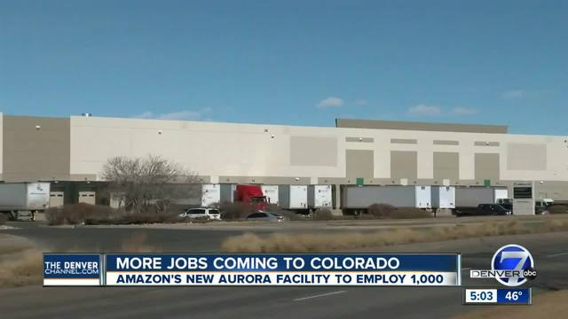 Amazon to hire 1-000 people in Aurora at new fulfillment center