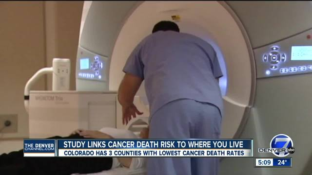 Report- Six of 10 counties with lowest cancer death rates in Colorado Rockies