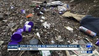 Human waste near Boulder Creek an ongoing issue