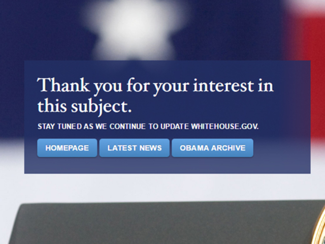 Trump White House removes White House web pages