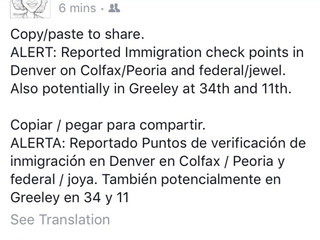 ICE: FB immigration checkpoint posts are false