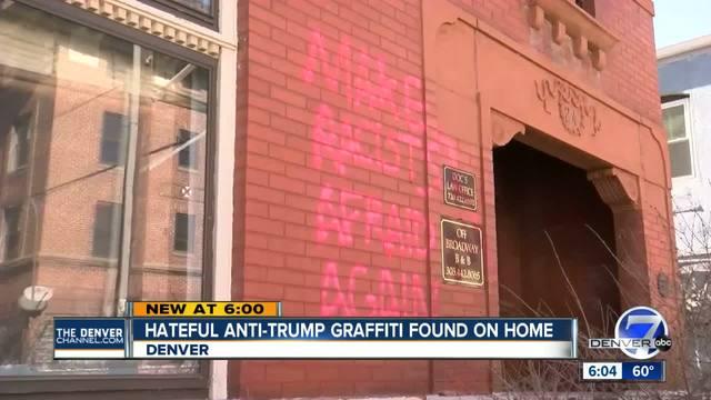 Anti-Trump vandals target Denver home