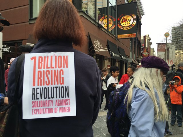 Hundreds march during One Billion Rising rally