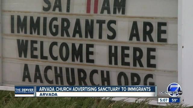 Arvada church advertising sanctuary to immigrants