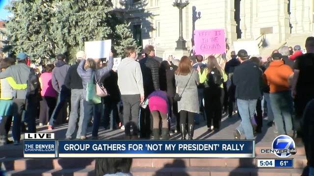 Hundreds attend anti-Trump rallies in Denver