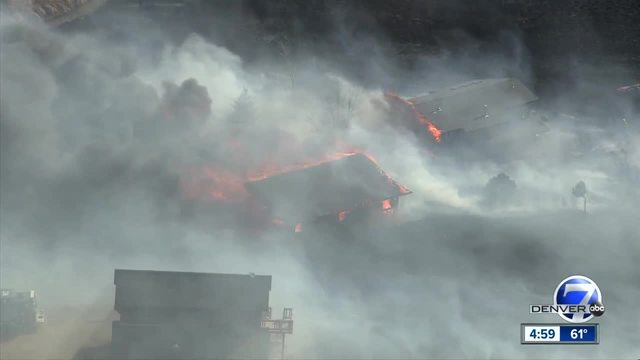 Third brush fire sets buildings on fire in CO