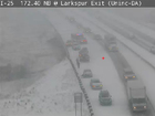Highway closures as snowstorm moves through CO