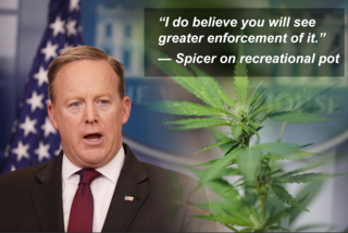 Spicer: DOJ will be 'taking action' on rec pot