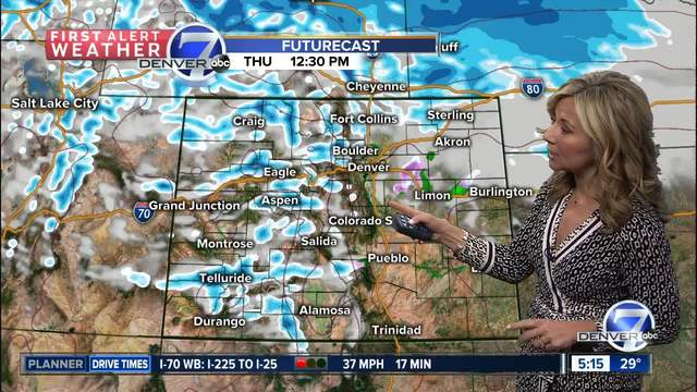 Snow and cold rolling into Colorado