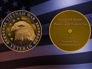Lapel pins honor service of Vietnam Veterans