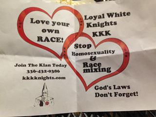 Ku Klux Klan fliers handed out in Grand Junction