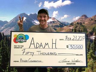 Homeless man wins $50,000 from scratch ticket