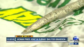 Woman says she found joint inside cookie bag
