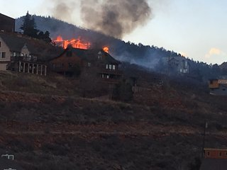 House destroyed by fire near Ft. Collins