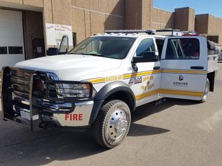 Denver firefighters helping put out Kansas fire