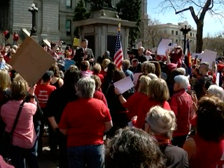 Hundreds rally at 'Day Without a Woman' protest