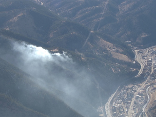 Brush fire south of Idaho Springs 100% contained