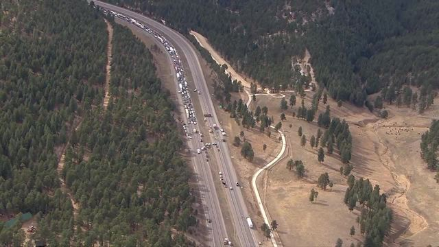 Messy crash stops traffic on both sides of I-70