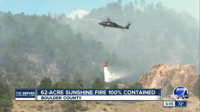 Evacuations lifted in Sunshine Fire- now 100 percent contained