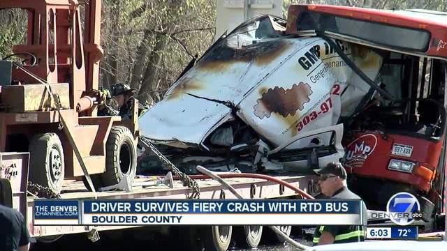 RTD bus involved in multi-vehicle crash