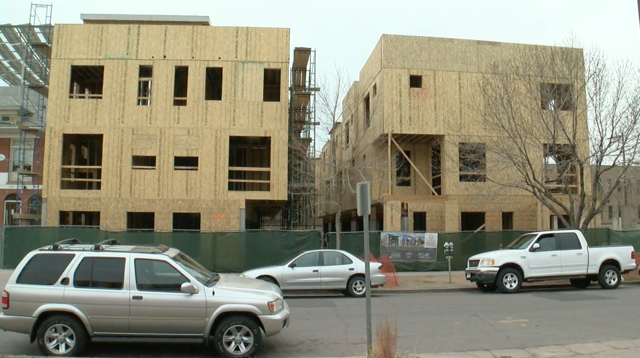 Wood framed buildings pose fire risk while under construction