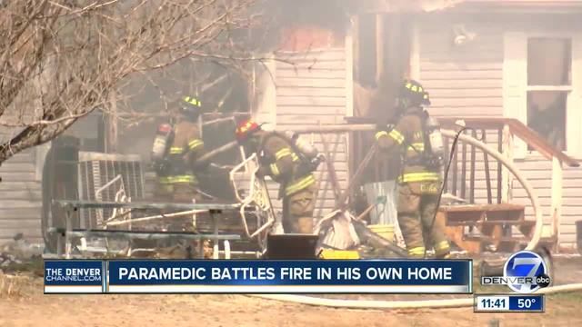 Paramedic loses home to fire