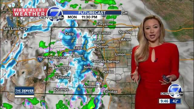 Scattered rain-snow showers Sunday