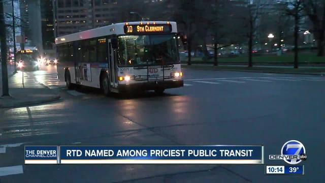 Survey- RTD among most expensive public transit systems in the country