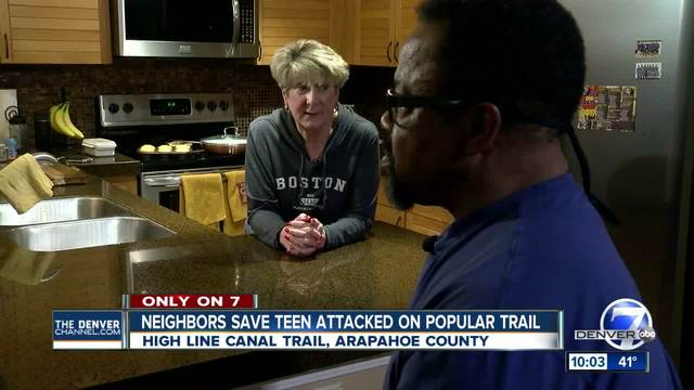 Couple recounts moments when High Line Canal Trail attack victim showed…
