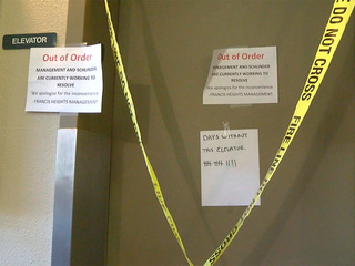 Broken elevators leave senior citizens stranded