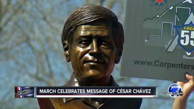 Cesar Chavez march preparations