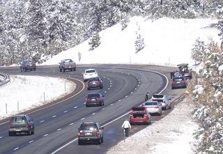 Potholes, rockslide hamper traffic on I-70