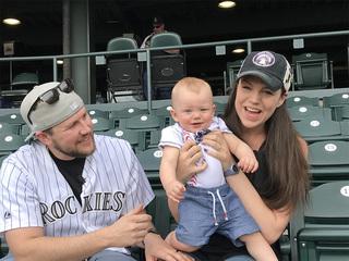 Baby Rockies fan celebrates 1st home opener