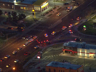 Pedestrian seriously hurt in collision with car
